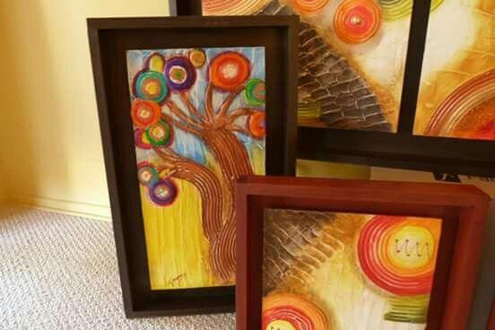 Hermosos cuadros de mi amiga Paty Mera. Pucón. Haz de tus paredes algo único.
