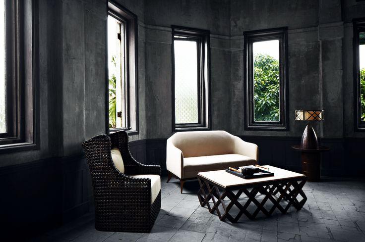 VIVERE Couture RAYA by Yuni Jie | RAYA Coffee Table | RAYA Accent Chair | RAYA Sofa | RAYA Nightstand     #Vivere #VivereCollection #RAYA #indonesia #heritage #homedecor #decor #gathering #furnishing #accessories #livingroom