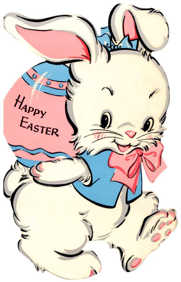 vintage easter card - another cute easter bunny
