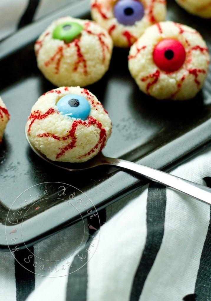 Petits yeux Noix de Coco & Noisette à gober {Rafaello Maison déguisés pour Halloween!!} - Cuisine Addict