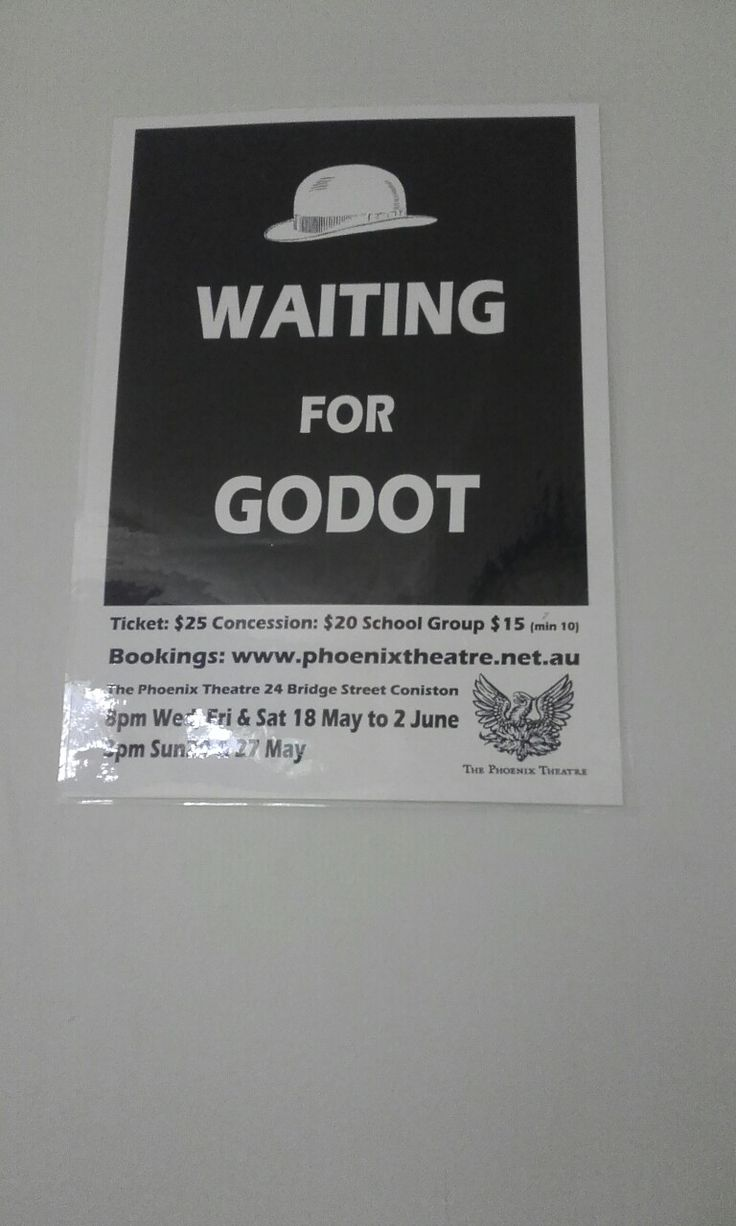 It says for phoenix theater and waiting for godot Coincides i think NOT