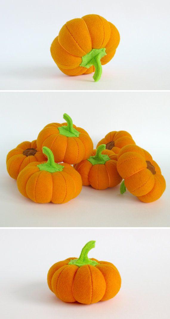 Organic toys Pumpkin orange Baby shower gift children by MyFruit