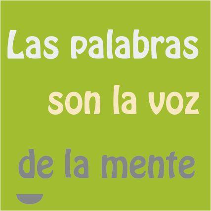 """""""Las palabras son la voz de la mente"""" #frases, #pensamientos"""