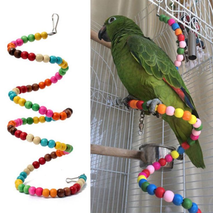 New Multicolor Beads Birds Cage Toys Pets Birds toys Wooden Bird Ladder Swing Exercise Rainbow Hamster Parrot Parakeet Toy 100CM