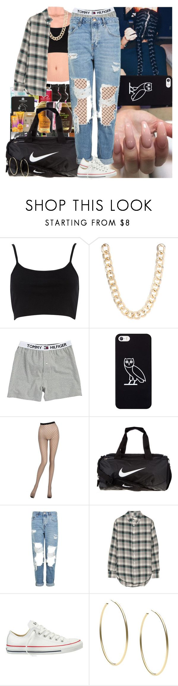 """""""Untitled #738"""" by msixo ❤ liked on Polyvore featuring River Island, Jane Norman, October's Very Own, La Perla, NIKE, Topshop, Band of Outsiders, Converse and Michael Kors"""