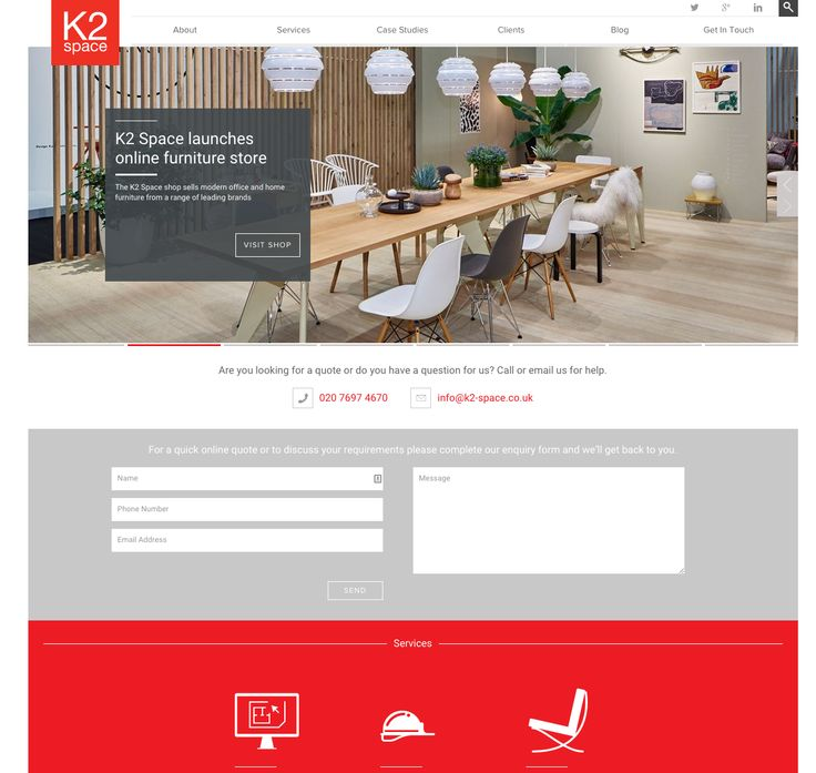 k2space.co.uk - Perhaps the most pertinent of site designs related to sitemap and case studies. Definitely a good model.