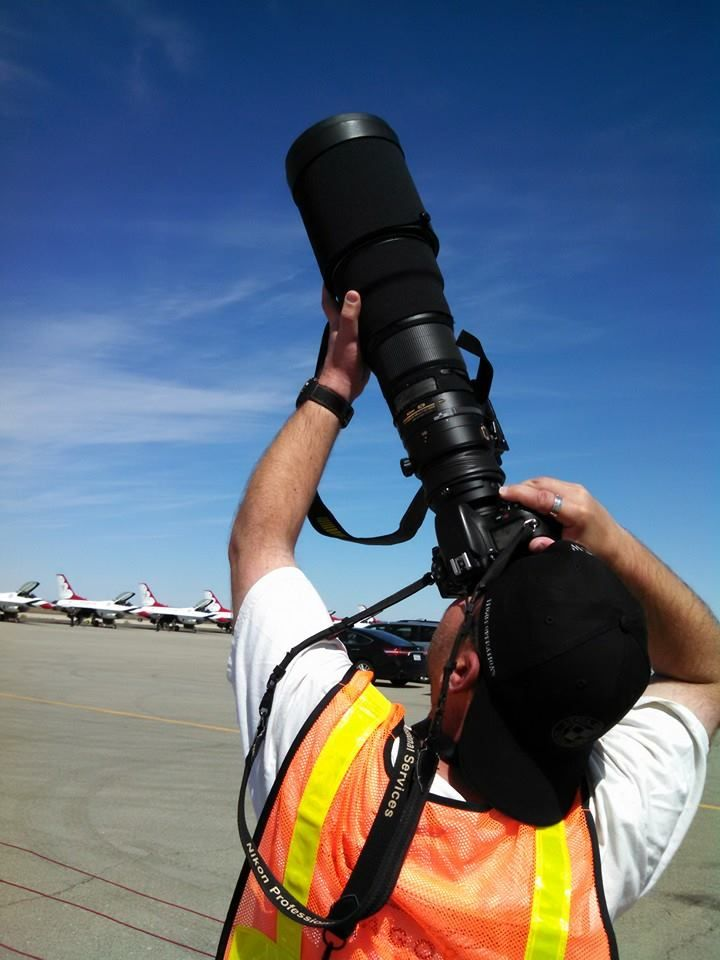 Tyson Rininger of TVRPhotography.com was spotted doing what he does so well at the Salinas Air Show.  Known as the best lens in the business, we are honoured to see him sporting our baseball cap! www.Sierrahotel.net