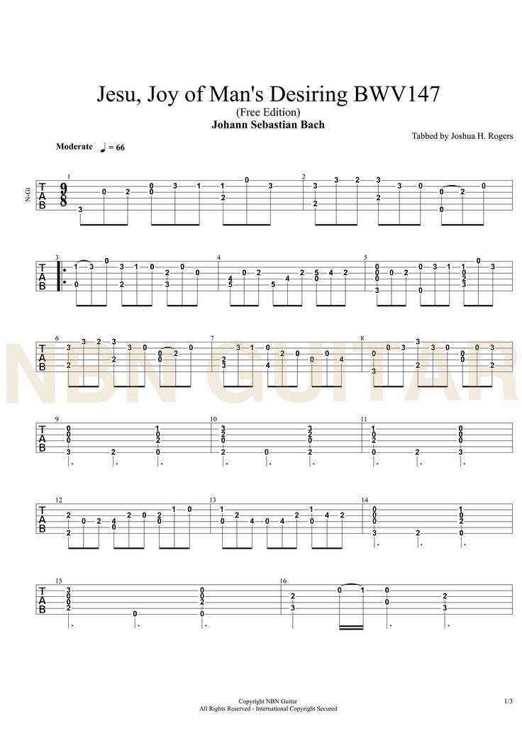 A note-by-note guitar lesson teaching you how to play this iconic piece of music by Bach. This piece has become almost obligatory at wedding services throughout the world and is synonymous with non-secular music, hymns and services.