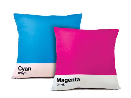 Pantone pillows! I the graphic designer geek that lives inside of me is jumping for joy!