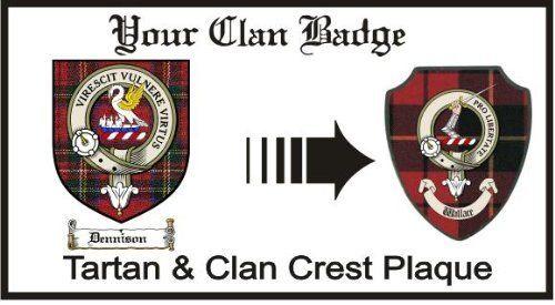 Dennison Clan Stewart Clan Badge Plaque . $29.99