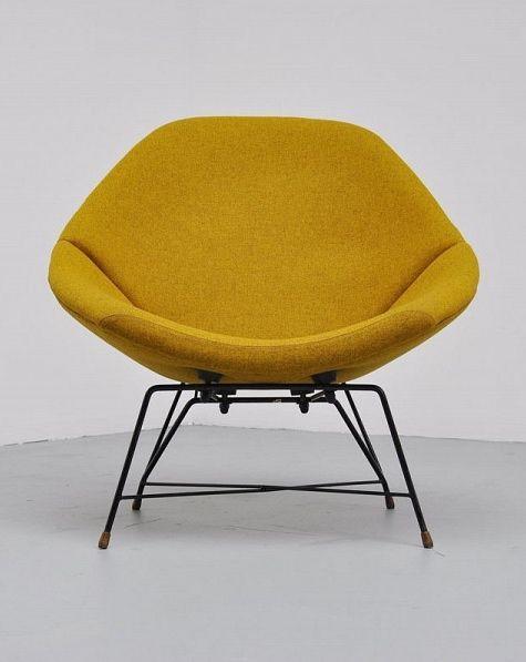 Augusto Bozzi; Lounge Chair for Saporiti, 1956.