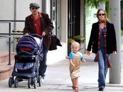 Johnny Depp with His Family | Johnny Depp's family (before)