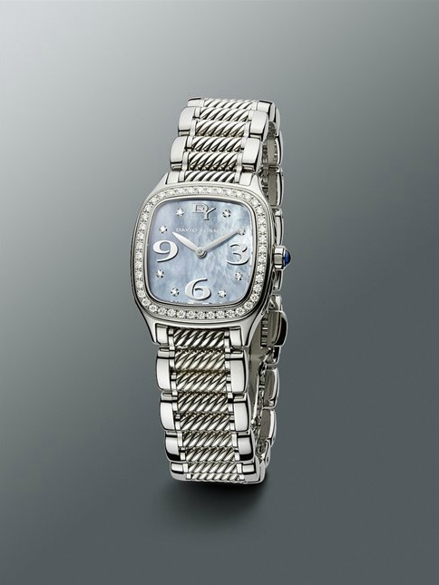 david yurman womanu0027s watch from their collection stainless steel mother of pearl