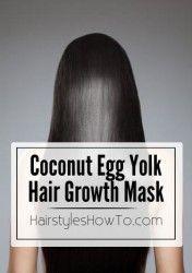 Coconut Egg Yolk Hair Growth Mask