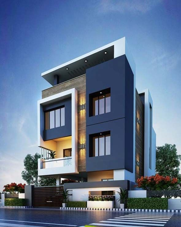 Exterior By Sagar Morkhade Vdraw Architecture: Modern Small House Elevation Design