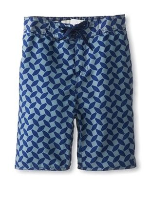 55% OFF Hang Ten Gold Boy's Kissing Fish Print Boardshort (Navy/Light Grey)