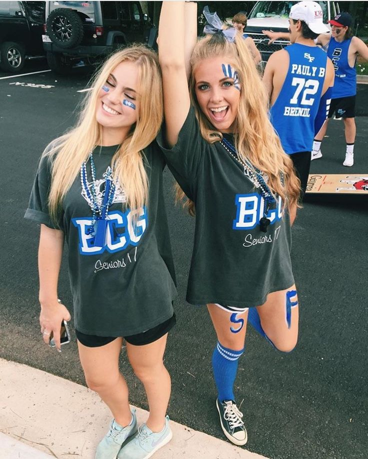 Blue out rep the seniors high school football game theme