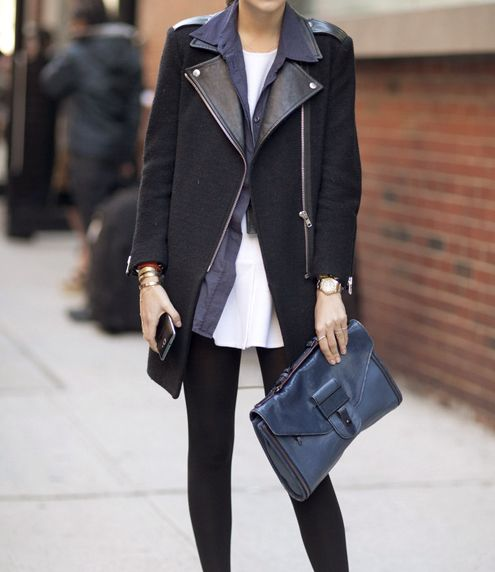 : Black Coats, Fashion, Man Repel, Clutches, Black And Navy, Outfit, Black White, Street Styles, Black Jackets