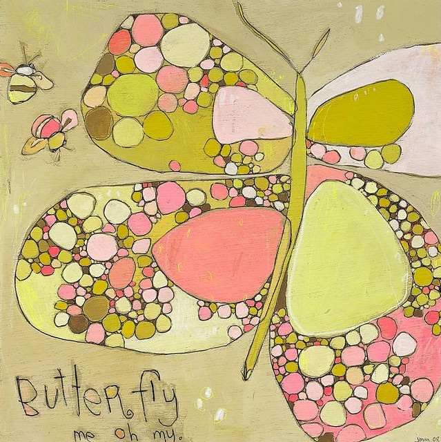 butterfly and friends by Jennifer Mercede