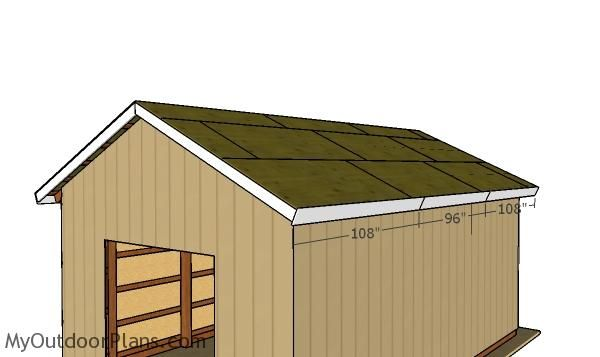 16x24 Pole Barn Roof Plans Myoutdoorplans Free Woodworking Plans And Projects Diy Shed Wooden Playhouse Pergola Bbq Pole Barn Barn Roof Pole Barn Plans