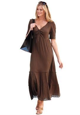 Cool, Summery gauze dress #plussize #womanwithin