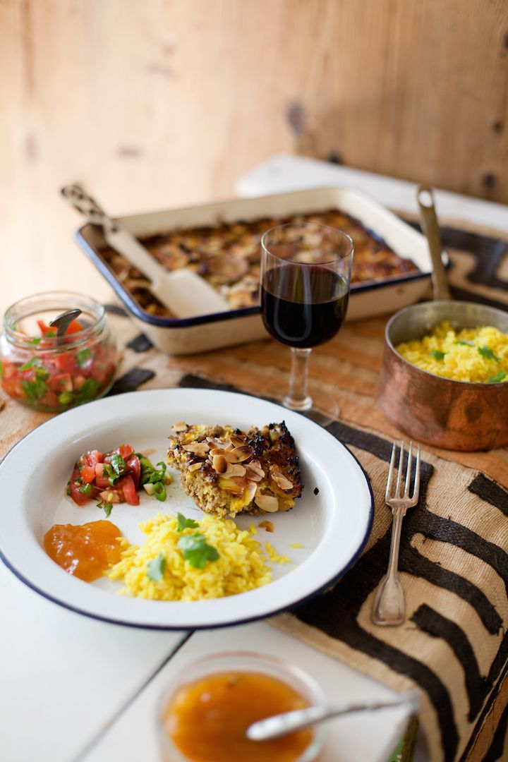 Bobotie, South Africa, food styling, red wine, Two Oceans wines