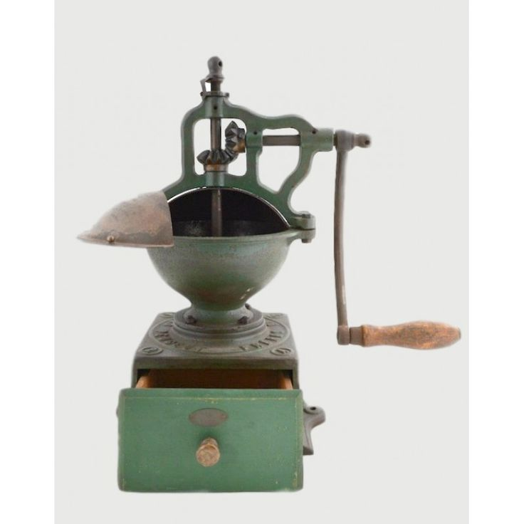 Antique Coffee Grinder, FRERE PEUGEOT, France 1879-1909, cast iron and wood Dimensions: 38x18x41 Weight: 7.800gr.