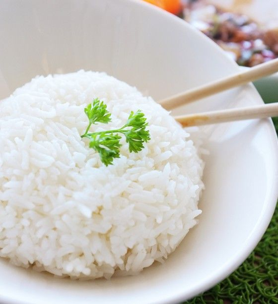 Bowl of sticky rice jasmine