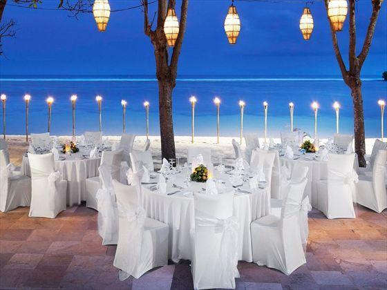The Laguna Resort & Spa, Bali. Beautiful beach wedding ceremony.
