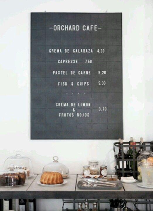 // Cafe board