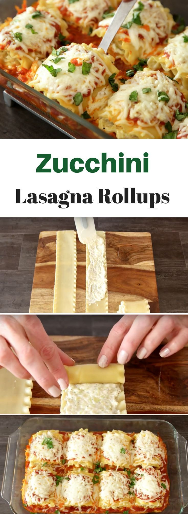 A different way to eat lasagna - these easy Zucchini Lasagne Rolls have the flavors of zucchini, 3 cheeses and marinara