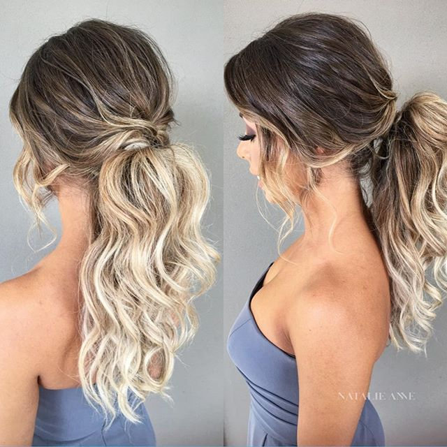 ponytail updo ideas