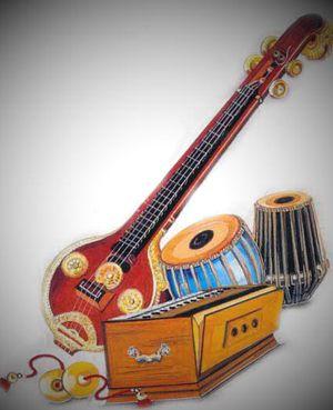 Instrumentos para a criação de sons devocionais, usados muitas vezes nas meditações, kirtans e bhajans. É um estilo musical na arte de vocalizar Mantras - palavras sagradas.