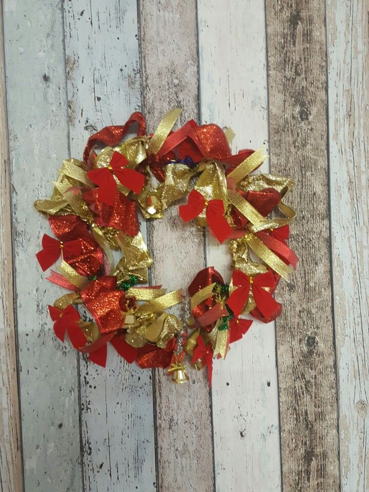 My first attempt at a Christmas Wreath