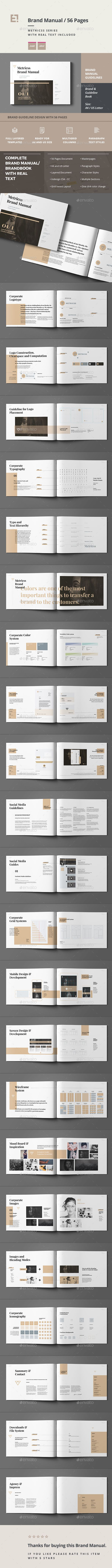 Brand Manual Template InDesign INDD. Download here: https://graphicriver.net/item/brand-manual-/17128777?ref=ksioks