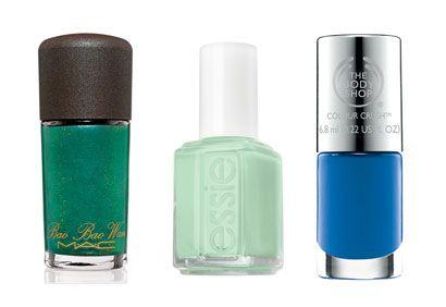 #Vernis à #ongles de #été: #verts et #bleus