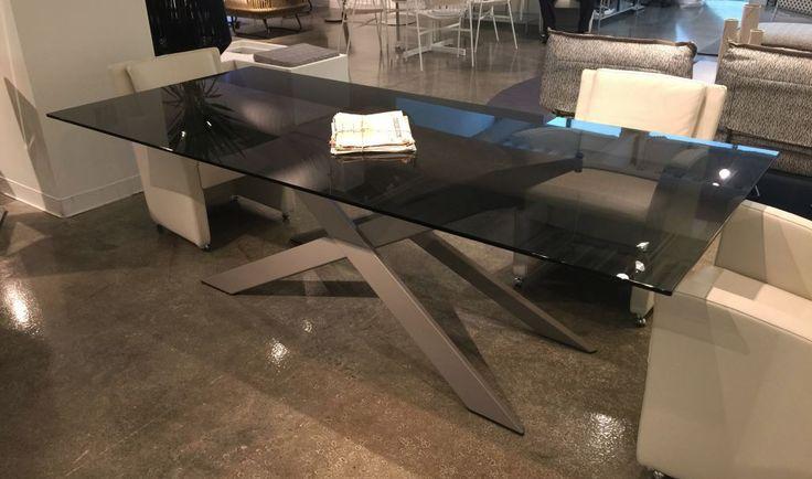 Cross table in High Point Furniture Fair