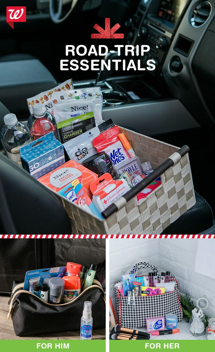 """Keep everyone in the car happy with a basket of on-the-road essentials! Get inspiration for your holiday drive on our """"Smile"""" blog!"""
