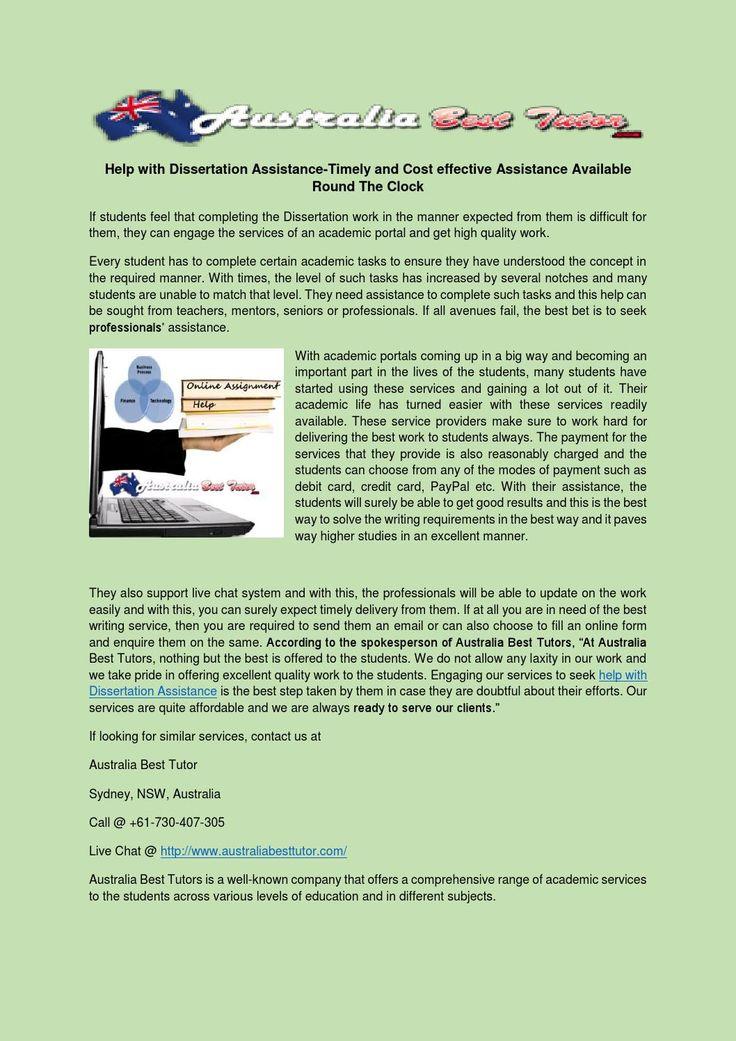 Dissertation Service Assignment Help