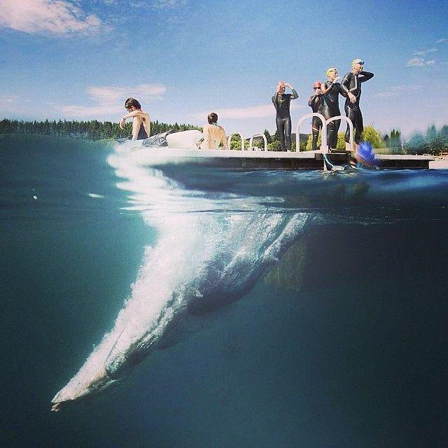 Image of the day. Multi sport athletes training in Wanaka by photonewzealand contributing photographer Derek Morrison #splitview #imageoftheday #dive #newzealand