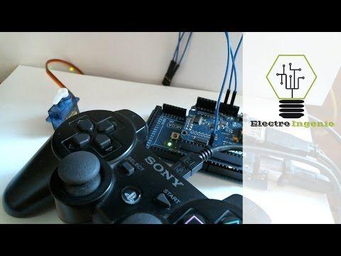 USB Shield Arduino + Servo Control PS3