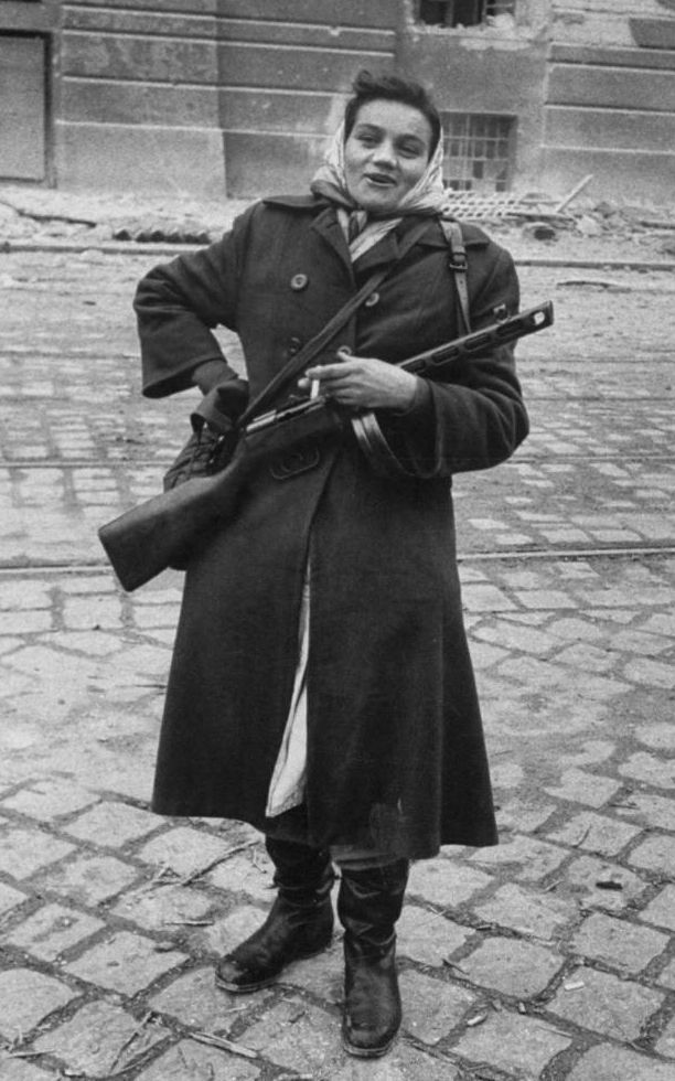 Hungarian freedom fighter in Budapest during the anti-Soviet uprising, November 1956. Detail from a photo by Michael Rougier, Life magazine.