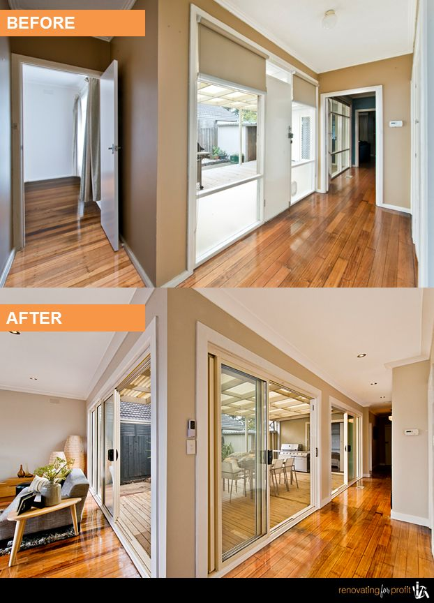 #entryway #hallway #renovation See more exciting projects at: www.renovatingforprofit.com.au