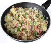 Riz frit au jambon fumé