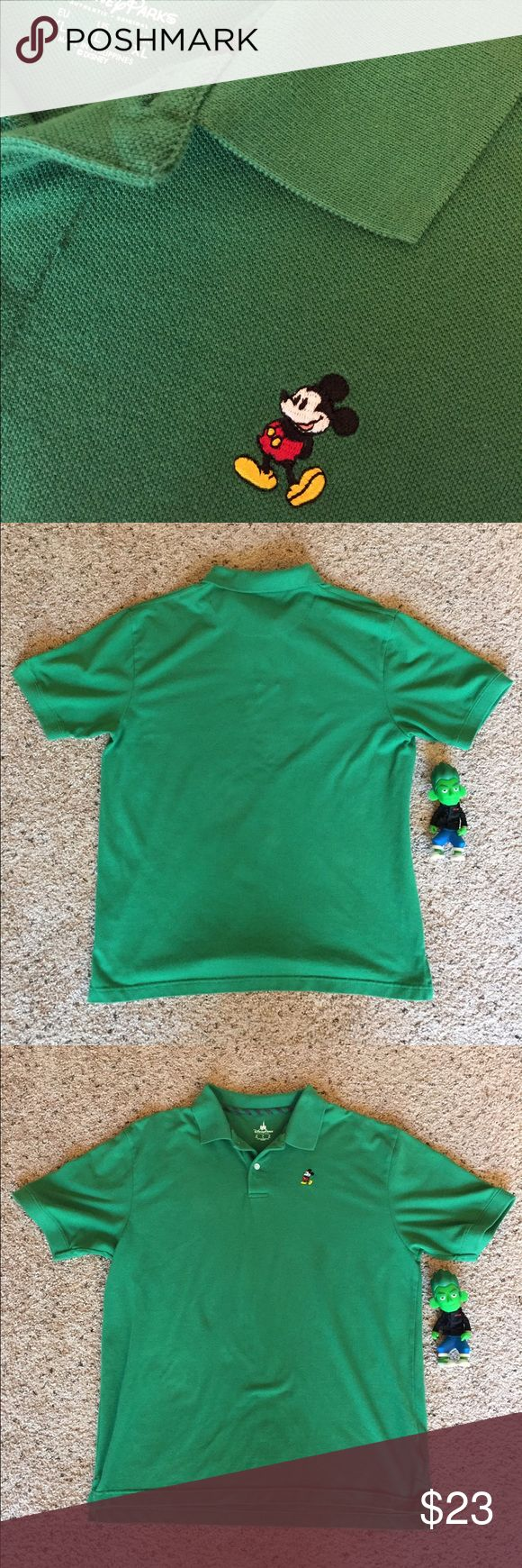 Disney Parks large green polo shirt Large, In great condition- Please drop an offer & Feel free to reach out for more info/photos, thanks! Disney Shirts Polos