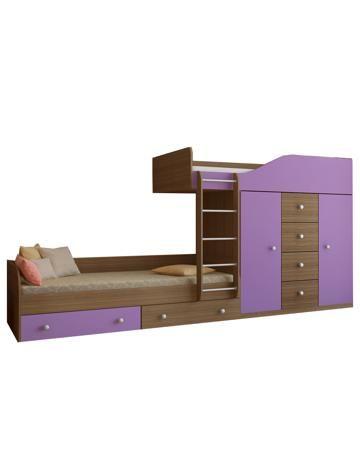 РВ мебель Астра 6 дуб шамони/фиолетовый  — 19250р. ------------- Двухъярусная кровать Астра 6 дуб шамони/фиолетовый РВ мебель - это очень удобная и практичная мебельная конструкция, которая не только обеспечивает два полноценных спальных места, но и систему для хранения вещей. Теперь все будет разложено по своим местам...