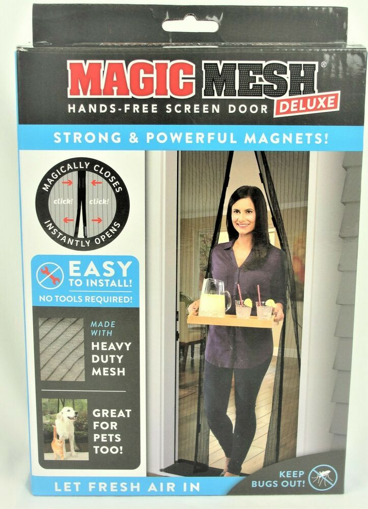 Magic Mesh Deluxe Hands Free Magnetic Screen Door Strong Powerful Magnets Ebay In 2020 Magnetic Screen Door Powerful Magnet Screen Door