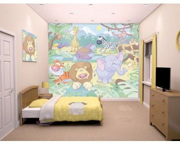 Get Ready For A Jungle Safari With The Walltastic Baby Jungle Safari Kids  Wall Mural, Peek Through The Leaves And See All The Animals At Home In The  Jungle. Part 88