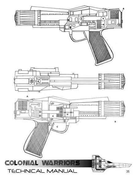 130 best Sci-Fi Miniature Ideas images on Pinterest Hand guns - new blueprint gun art
