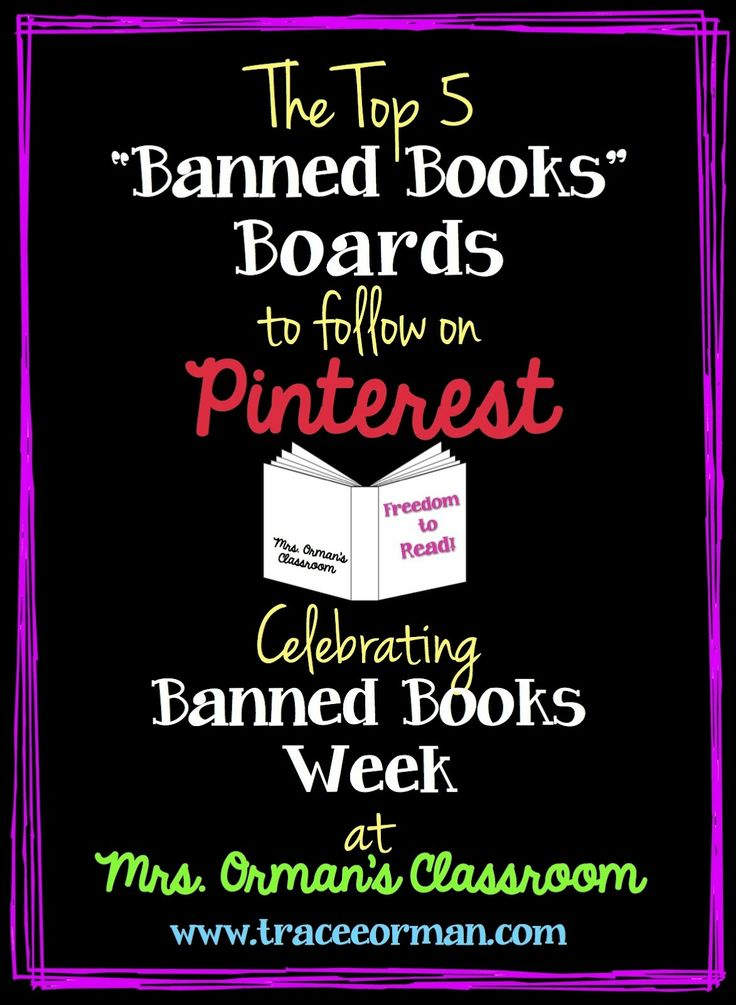 Mrs. Orman's Classroom: The Best Banned Books Pinterest PinBoards